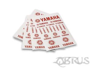 Genuine Yamaha White & Red A5 Sticker Sheet