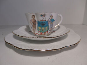 Late Foley Shelley Dainty Shape Cup Saucer Plate Sheffield Coat of Arms c1911