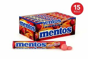 Mentos Rolls Cinnamon 1.32 Ounce - Pack of 15