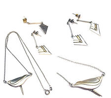 ARGENTO SET sterling 925 Collana e orecchini in accessori