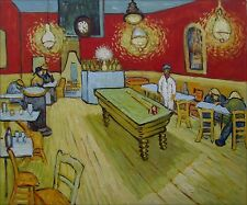 Vincent Van Gogh Night Cafe Repro, Quality Hand Painted Oil Painting, 20x24in