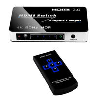HDMI 2.0 5X1 Switch 4K 60HZ HDR 5 in 1 out Video Switcher For PS4 DVD PC to TV