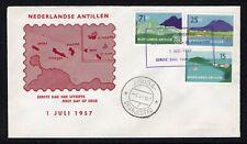 Antillen: 1957 - FDC E2 onbeschreven met dichtgeplakte klep.