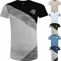 New Mens T-shirt Crosshatch Camo Army Military Faded Sublimation Tee 2019 Top