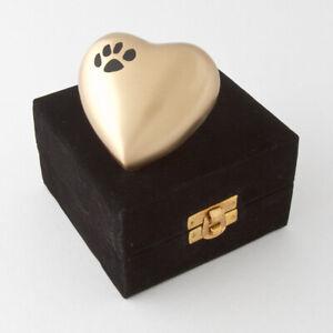 Pet Cremation Urn Keepsake  Bronze/Black  Display Model & Velvet box .Was $79.95