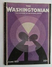 Rare The Washingtonian Magazine Art Cover by H.O. Hoffman June 1931
