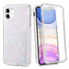 Coolden Glitter Case for iPhone 11 Slim Built-in Screen Protector Cute Shell