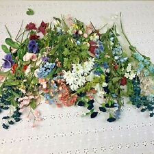Mix Lot of Spring Flowers Floral Vintage Millinery Flower Stems Greenery
