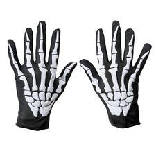 Biker Skeleton Bone Gloves Racing Cycling Motorcycle Halloween Goth Full Finger
