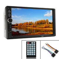 """7"""" 2DIN Auto MP5 MP3 Player Bluetooth Touch Screen Stereo Radio HD Car Play"""
