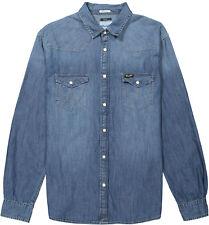 Wrangler Western Denim Shirt Mid Indigo m