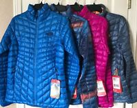 $199 NWT Womens The North Face Thermoball Down Full Zip Jacket Pink Blue Swirl