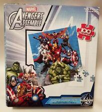 Marvel Avengers Assemble Puzzle 100 Pieces Hulk Ironman Capt America (UNUSED)