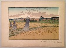 HENRI RIVIERE gravure lithographie bretagne bretonne marine 1900 Perros Guirec
