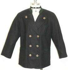 "ZEILER WOOL JACKET Women German Winter Designer Gorsuch BLACK Coat B46"" 16 L"