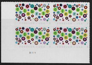US Scott #5434, Plate Block #B11111 2020 Celebrate VF MNH Lower Left