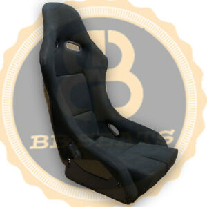 BB5 Slim Racing Fibreglass Bucket Seat With Side Mounts & Runners