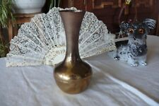 Große Blumen Vase aus Messing