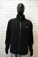Slam Uomo Giacca Giubbino Taglia XL Cappotto Giubbotto Jacket Nero Man