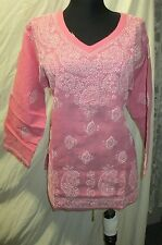 Elegance chikan embroidery   coton  kurta/top size L 42