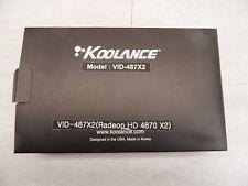 New Koolance VID-487X2 (Radeon HD 4870 X2) Water Block Custom Cooler