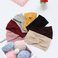 Winter Crochet Knitted Wool Headbands Turban Headband Elastic Hairband Hair Wrap
