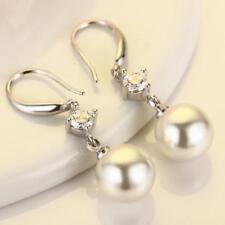 Women Crystal Pearl Drop Dangle Earrings Fashion Jewelry Elegant Lady Gif Pro