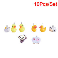 10Pcs/Set Resin Duck Cattle Sheep Charms Pendant Jewelry DIY Making Craft GiftSE