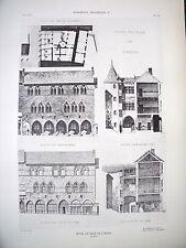 Hôtel de ville de Cordes (Tarn) planche début XX°