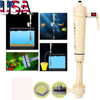 Aquarium Water Filter Tool Fish Tank Gravel Vacuum Cleaning Cleaner Siphon Pump