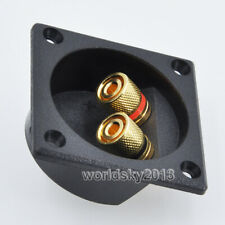 2pcs Square Copper 2 Way Speaker Junction Box Terminal Binding Post 57x57mm