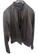BNWT Oxford Men's Wagner Chocolate Brown Leather Jacket Blazer Size XL