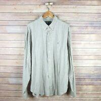 RALPH LAUREN Men's Classic Fit Long Sleeve Button Front Shirt XL Extra Large