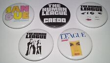 5 Human League button badges 80's New Wave Hysteria Credo Don't You Want Me Baby