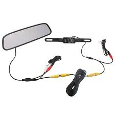 """4.3"""" TFT Screen Car LCD Rear View Rearview DVD Mirror Monitor with Backup Camera"""