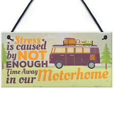 Motorhome Caravan Campervan Hanging Plaque Camping Holiday Sign Friendship Gift