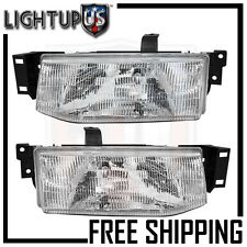 Headlights Headlamps Pair Left right set for 91-96 Ford Escort