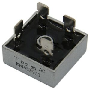 KBPC1501FP Single-phase bridge rectifier Urmax: 100V If: 15A Ifsm: 270A DIOTEC S