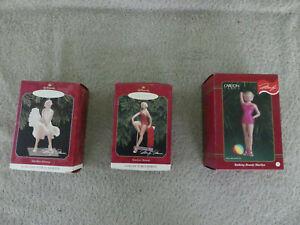 Hallmark and Carlton Card Ornaments Marilyn Monroe Lot of 3 New
