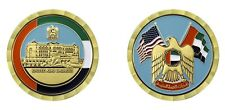 "UNITED ARAB EMIRATES CROSSED FLAGS 1.75"" CHALLENGE COIN"