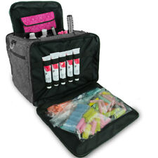 Large Hairdressers Tool Bag, Professional Hair Accessories Kit, Case, Black