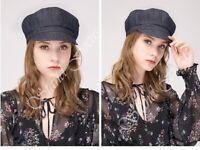 Stand Focus Women Cotton Denim Cabbie Newsboy Baker Boy Everyday Causal Hat Cap