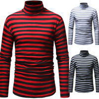 Men's Winter Slim Fit High Neck Pullover Turtleneck Casual Sweater T-shirt Tops