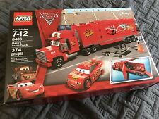 Lego Cars Set 8486 Mac's Team Truck Complete w/ Box Disney Lightning McQueen 95