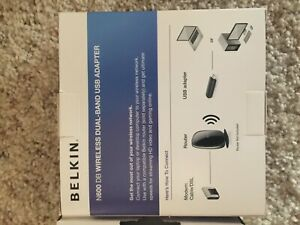Belkin N600 DB Wireless Dual-Band USB Adapter laptop or desktop computer