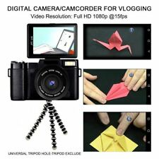 Vlog Camera Kit Vlogging Youtube Video Camcorder Full HD 24 MP Retractable Flash