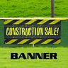 Construction Sale Promotion Discount Offer Vinyl Banner Sign