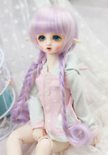 8-9'' 1/3 BJD Doll SD Toy Wig Dollfie DZ DOD LUTS Purple Mix Long Straight Hair
