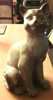 Ceramic Studio Pottery Light Brown Cat No 3405 Sitting Up VGC