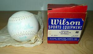 "Vintage Wilson Sports Equipment Official Top Notch Softball A9100 12"" USA Made"